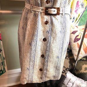 Fendi Dresses - Auth FENDI Vintage Belted FF Logo Shirt Dress